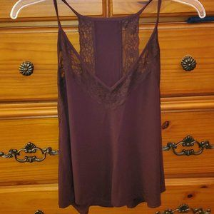 Burgundy colored lace AE soft and sexy tank